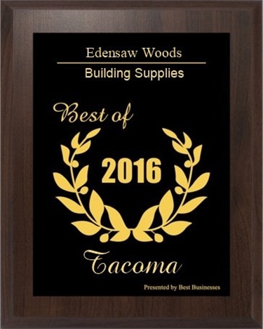 Edensaw Woods Building Supplies Best of 2016 Award