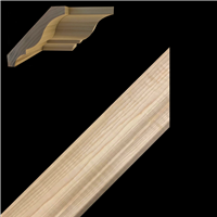 CROWN MOULDING, HICKORY 2-1/4""