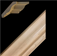 CROWN MOULDING, CHERRY 3-3/8""