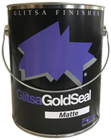 GLITSA GOLD SEAL TOP COAT, MATT 1 Gallon