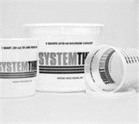 System Three Plastic Mixing Tub Lid 1 Quart Lids