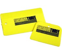 "System Three Large Plastic Squeege 5.8"" x 3.5"""