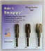 "Snappy 3 pc. Tapered Plug Cutter Set 1/4"", 3/8"", 1/2"" dias."